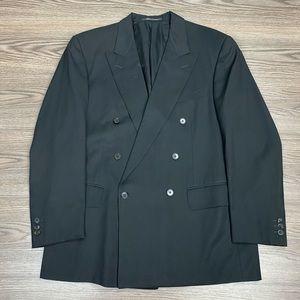 Ermenegildo Zegna Black Double Breasted Blazer 42R